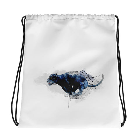 Drawstring gym bag: Leaping Panther 2