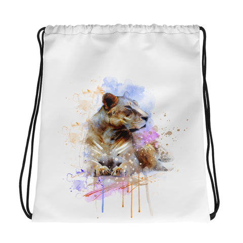 Drawstring gym bag: Majestic Lioness