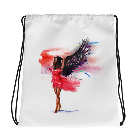 Drawstring gym bag: Winged Woman