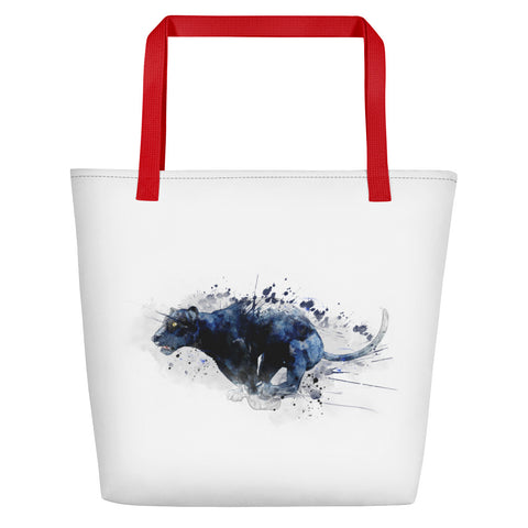 Leaping Panther 1 Beach Bag