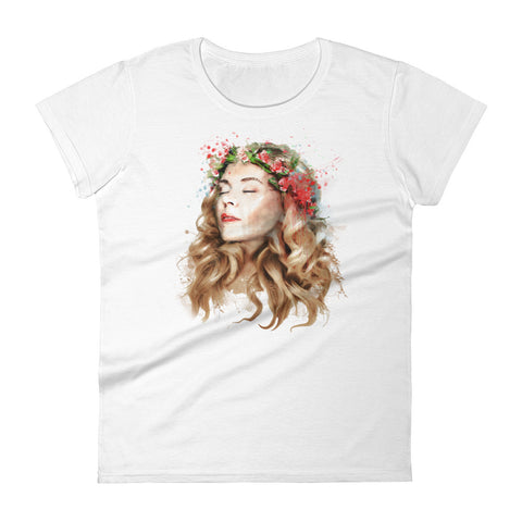 Moment of Bliss Women's Fitted T-shirt
