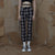 High Street Retro Plaid Trousers