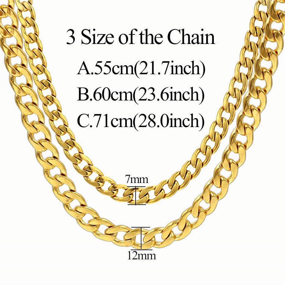 7ae9b7d9a6e Men's Stainless Steel / Gold Cuban Link Chain
