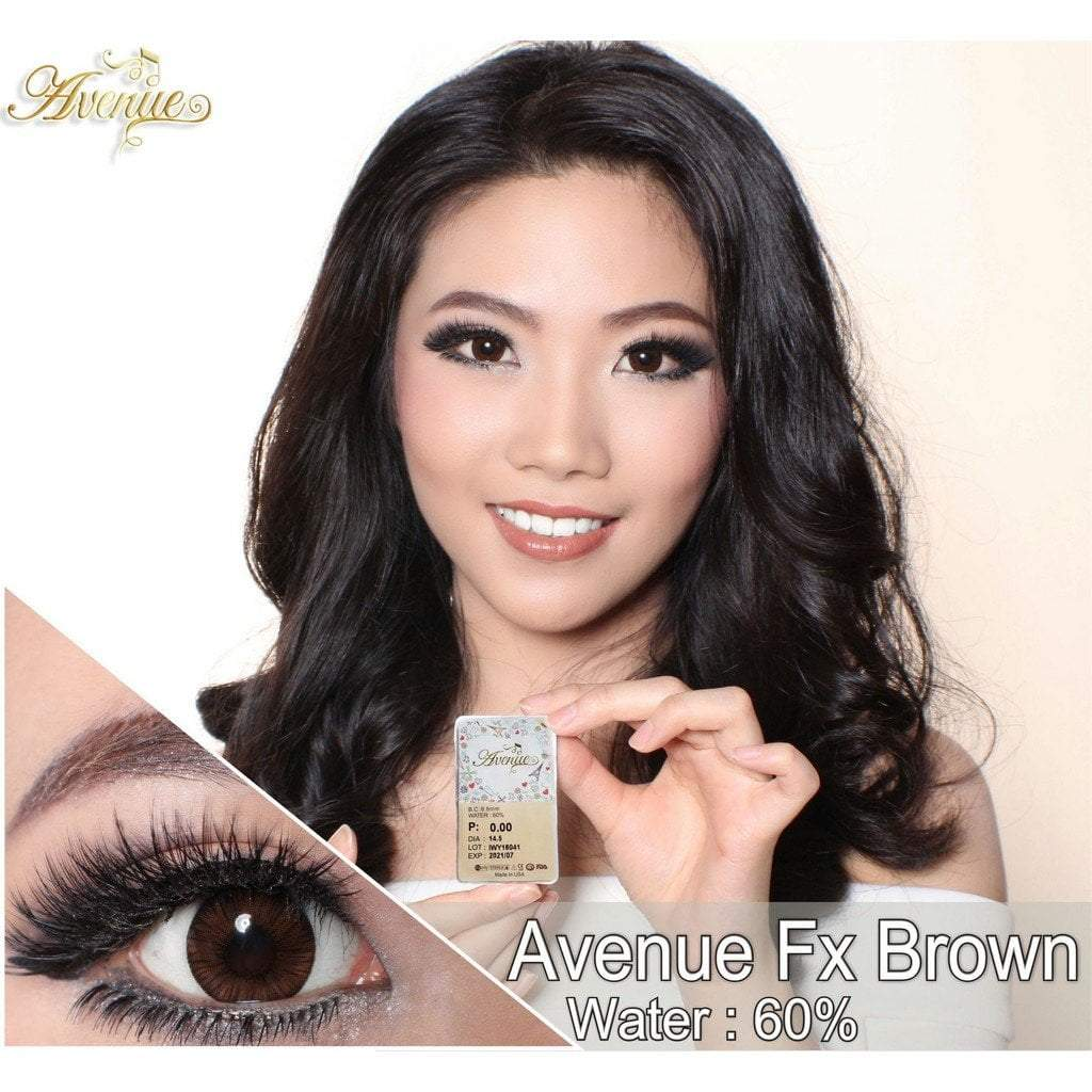 COLORED CONTACTS AVENUE FX BROWN - Lens Beauty Queen