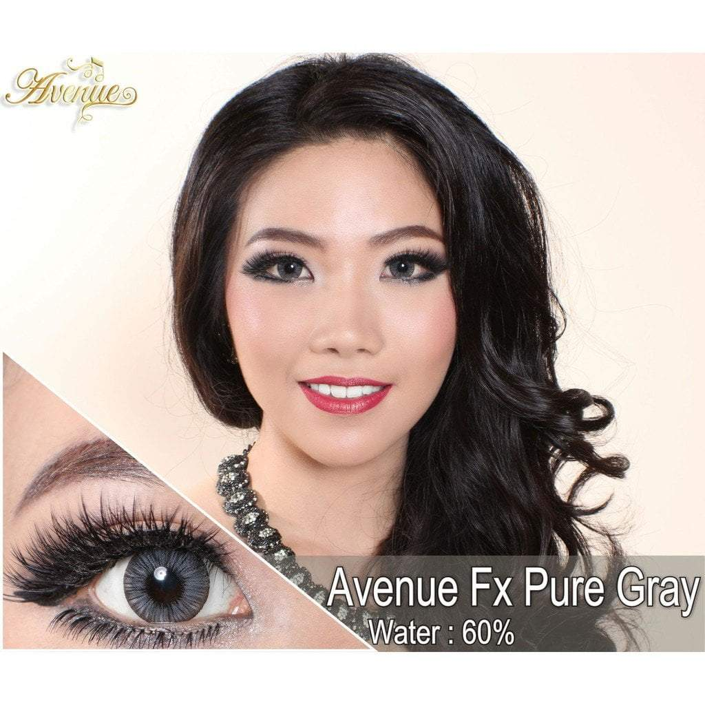 COLORED CONTACTS AVENUE FX PURE GRAY (DARK GRAY) - Lens Beauty Queen