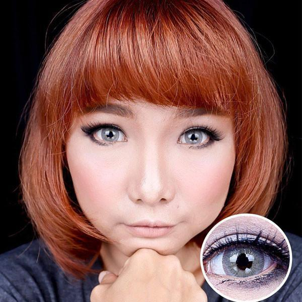 COLORED CONTACTS AVENUE HONEY GRAY - Lens Beauty Queen