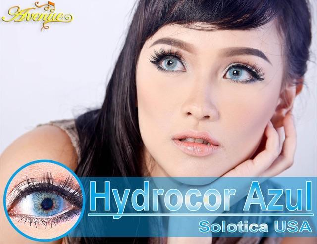 COLORED CONTACTS HYDROCOR AVENUE SOLOTICA AZUL BLUE - Lens Beauty Queen