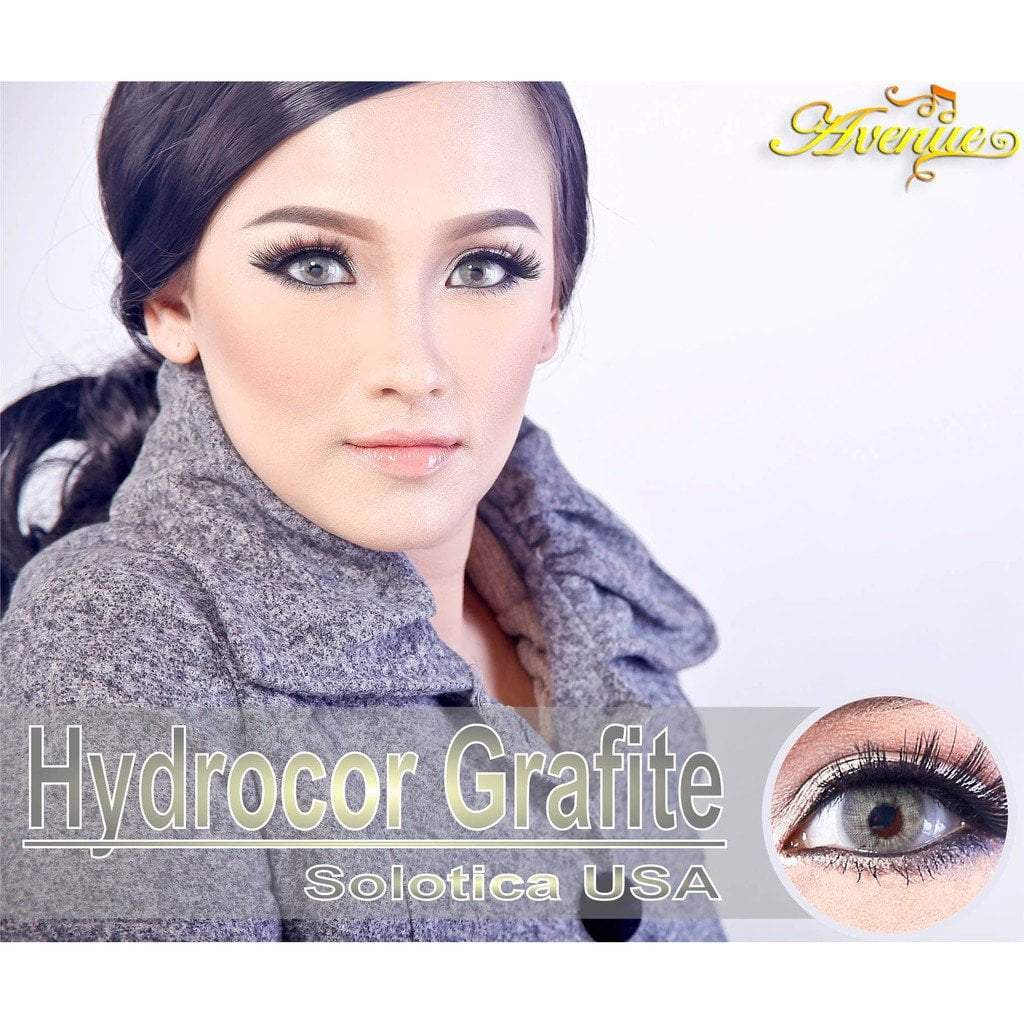 COLORED CONTACTS HYDROCOR AVENUE SOLOTICA GRAFITE (Gray Blue) - Lens Beauty Queen