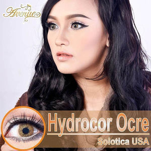 COLORED CONTACTS HYDROCOR AVENUE SOLOTICA OCRE BROWN - Lens Beauty Queen