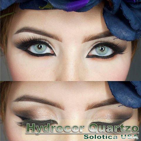 COLORED CONTACTS HYDROCOR AVENUE SOLOTICA QUARTZO (GRAY GREEN) - Lens Beauty Queen