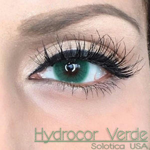 COLORED CONTACTS HYDROCOR AVENUE SOLOTICA VERDE GREEN - Lens Beauty Queen