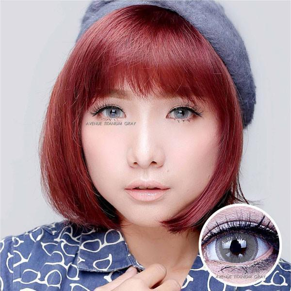 COLORED CONTACTS AVENUE TITANIUM GRAY - Lens Beauty Queen