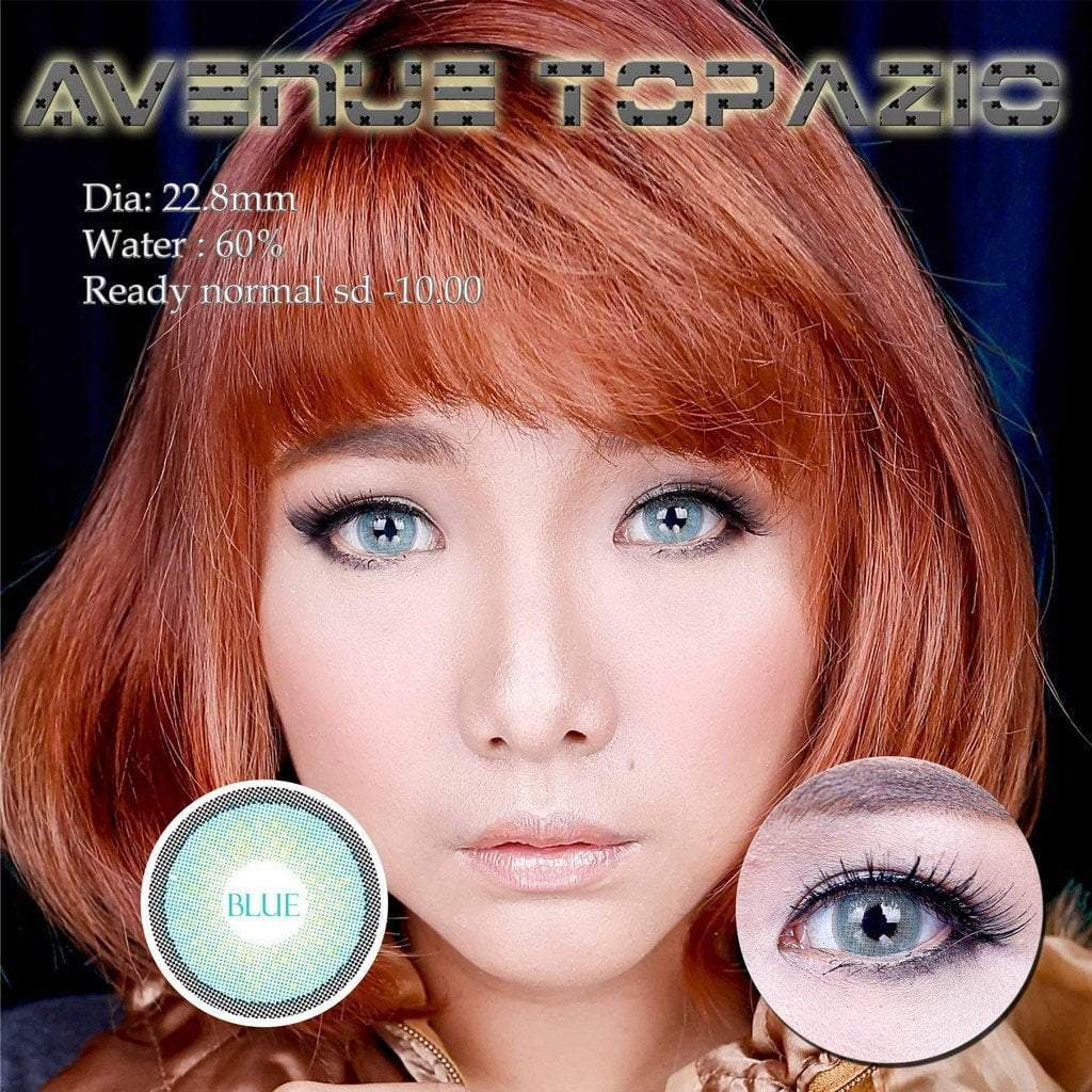 COLORED CONTACTS AVENUE TOPAZIO BLUE - Lens Beauty Queen