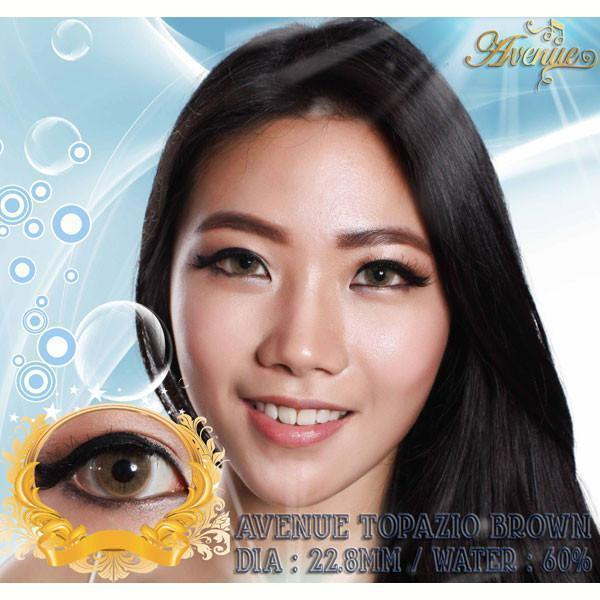 COLORED CONTACTS AVENUE TOPAZIO BROWN - Lens Beauty Queen
