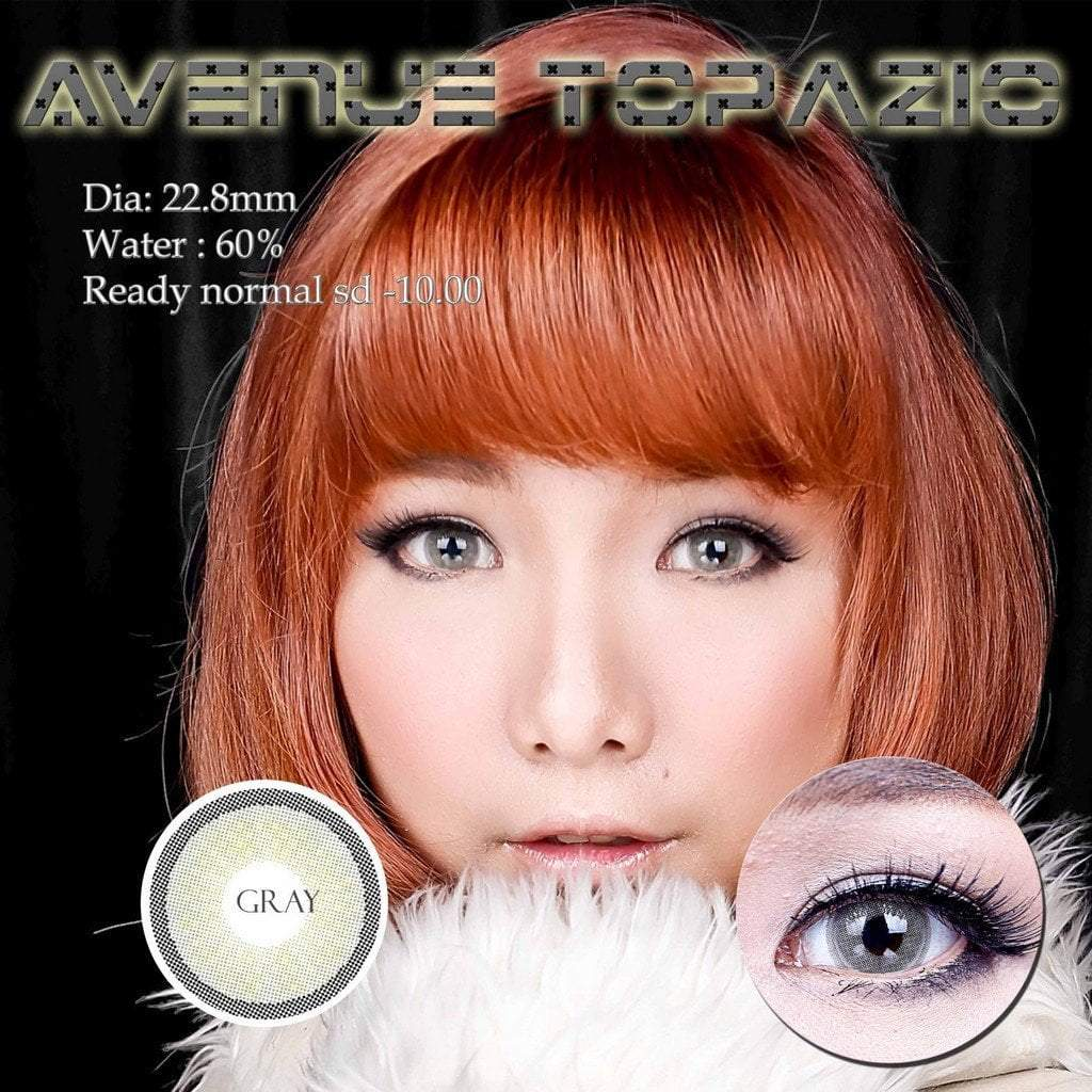 COLORED CONTACTS AVENUE TOPAZIO GRAY - Lens Beauty Queen