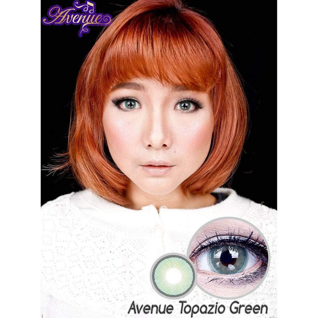 COLORED CONTACTS AVENUE TOPAZIO GREEN - Lens Beauty Queen