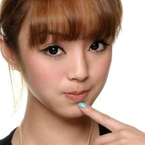 BLACK CONTACTS - COLORED CONTACTS GEO CIRCLE BLACK - Lens Beauty Queen