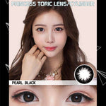 BLACK CONTACTS - EOS PRINCESS TORIC PEARL BLACK ASTIGMATISM LENSES - Lens Beauty Queen