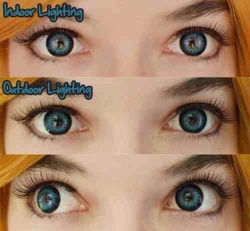 BLUE CONTACTS - COLORED CONTACTS GEO BELLA BLUE - Lens Beauty Queen