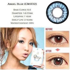 BLUE CONTACTS - GEO ANGEL BLUE - Lens Beauty Queen