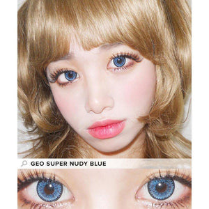 BLUE CONTACTS - GEO SUPER NUDY BLUE - Lens Beauty Queen