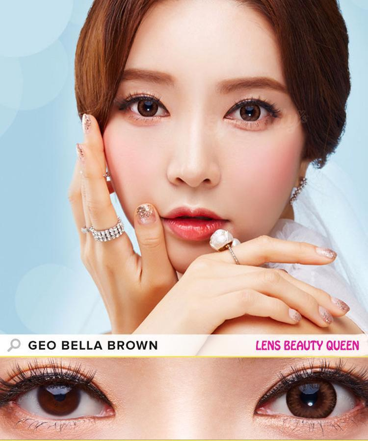BROWN CONTACTS - COLORED CONTACTS GEO BELLA BROWN - Lens Beauty Queen