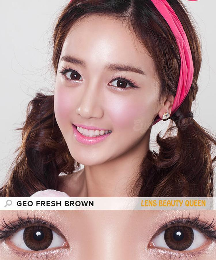 BROWN CONTACTS - COLORED CONTACTS GEO FRESH BROWN - Lens Beauty Queen