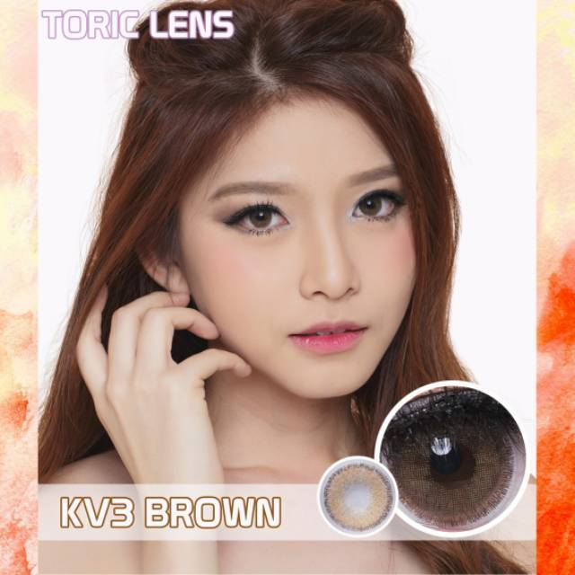 BROWN CONTACTS - EOS PRINCESS TORIC KV3 BROWN ASTIGMATISM LENSES - Lens Beauty Queen