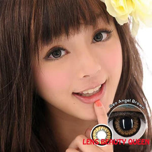 BROWN CONTACTS - GEO ANGEL BROWN - Lens Beauty Queen