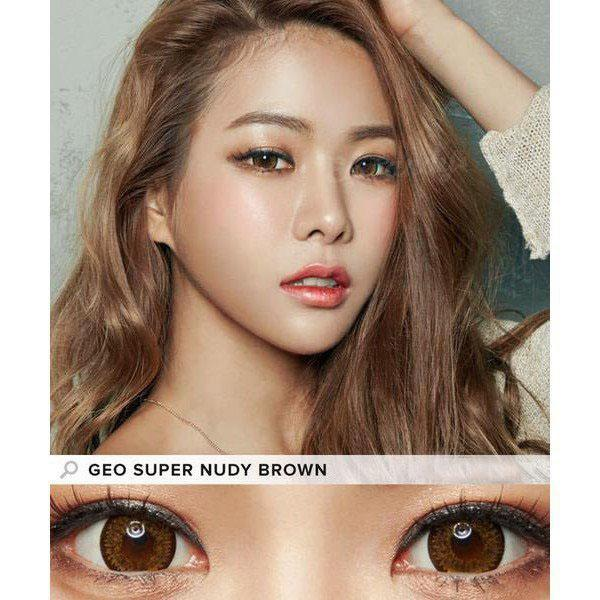 BROWN CONTACTS - GEO SUPER NUDY BROWN - Lens Beauty Queen