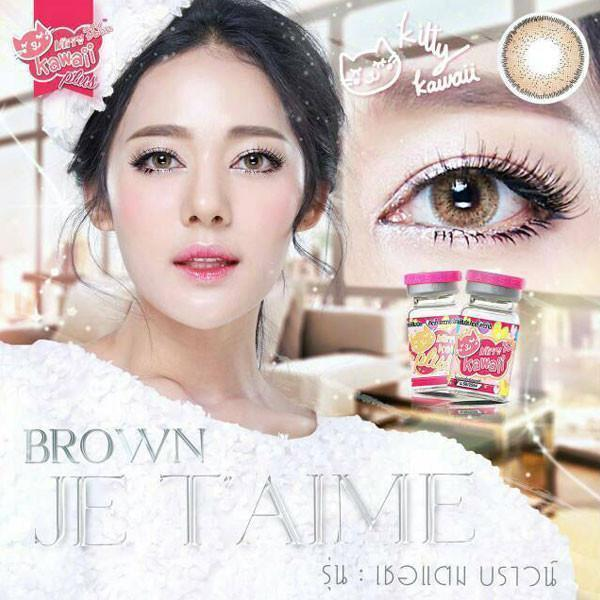 COLORED CONTACTS KITTY JETAIME BROWN - Lens Beauty Queen