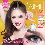 COLORED CONTACTS KITTY JETAIME GRAY - Lens Beauty Queen