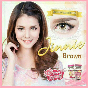 COLORED CONTACTS KITTY JINNIE BROWN - Lens Beauty Queen