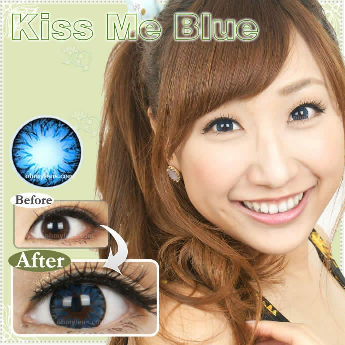 COLORED CONTACTS KITTY KISS ME BLUE - Lens Beauty Queen