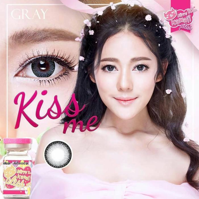 COLORED CONTACTS KITTY KISS ME GRAY - Lens Beauty Queen