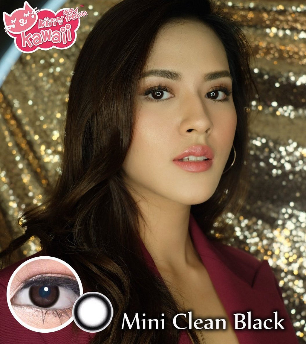 COLORED CONTACTS KITTY MINI CLEAN BLACK - Lens Beauty Queen