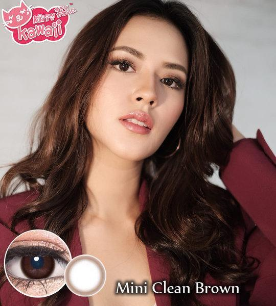 COLORED CONTACTS KITTY MINI CLEAN BROWN - Lens Beauty Queen