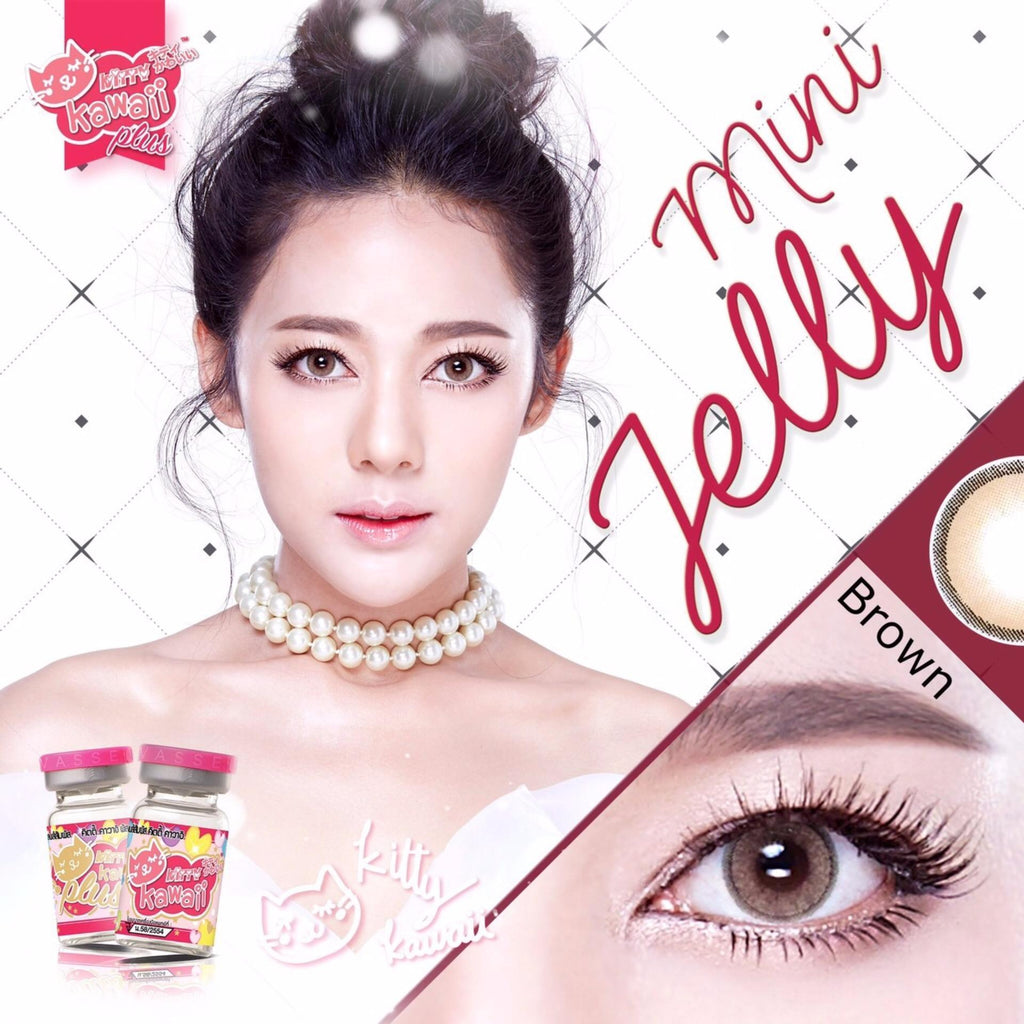 COLORED CONTACTS KITTY MINI JELLY BROWN - Lens Beauty Queen