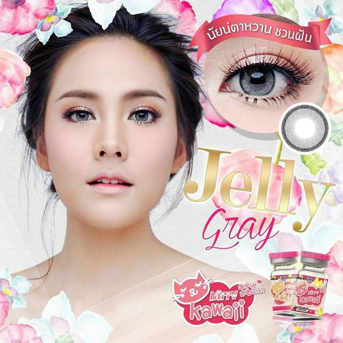 COLORED CONTACTS KITTY MINI JELLY GRAY - Lens Beauty Queen