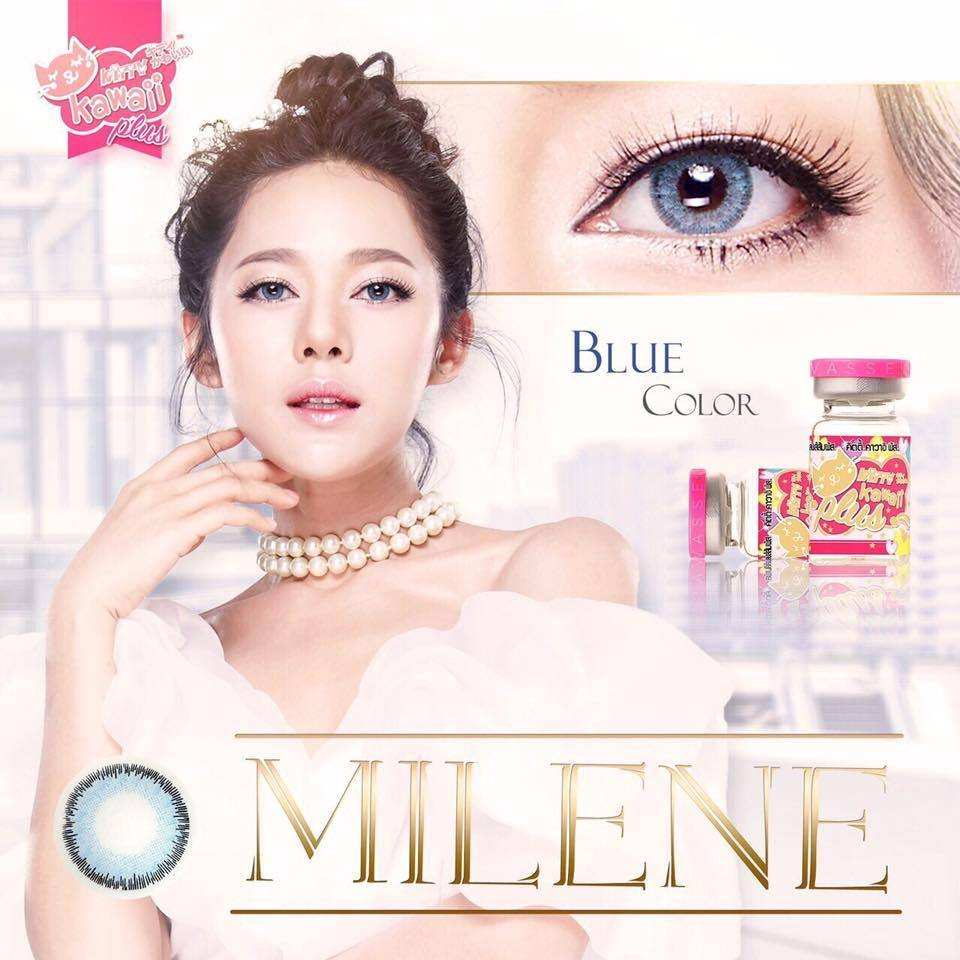 COLORED CONTACTS KITTY MINI MILENE BLUE - Lens Beauty Queen