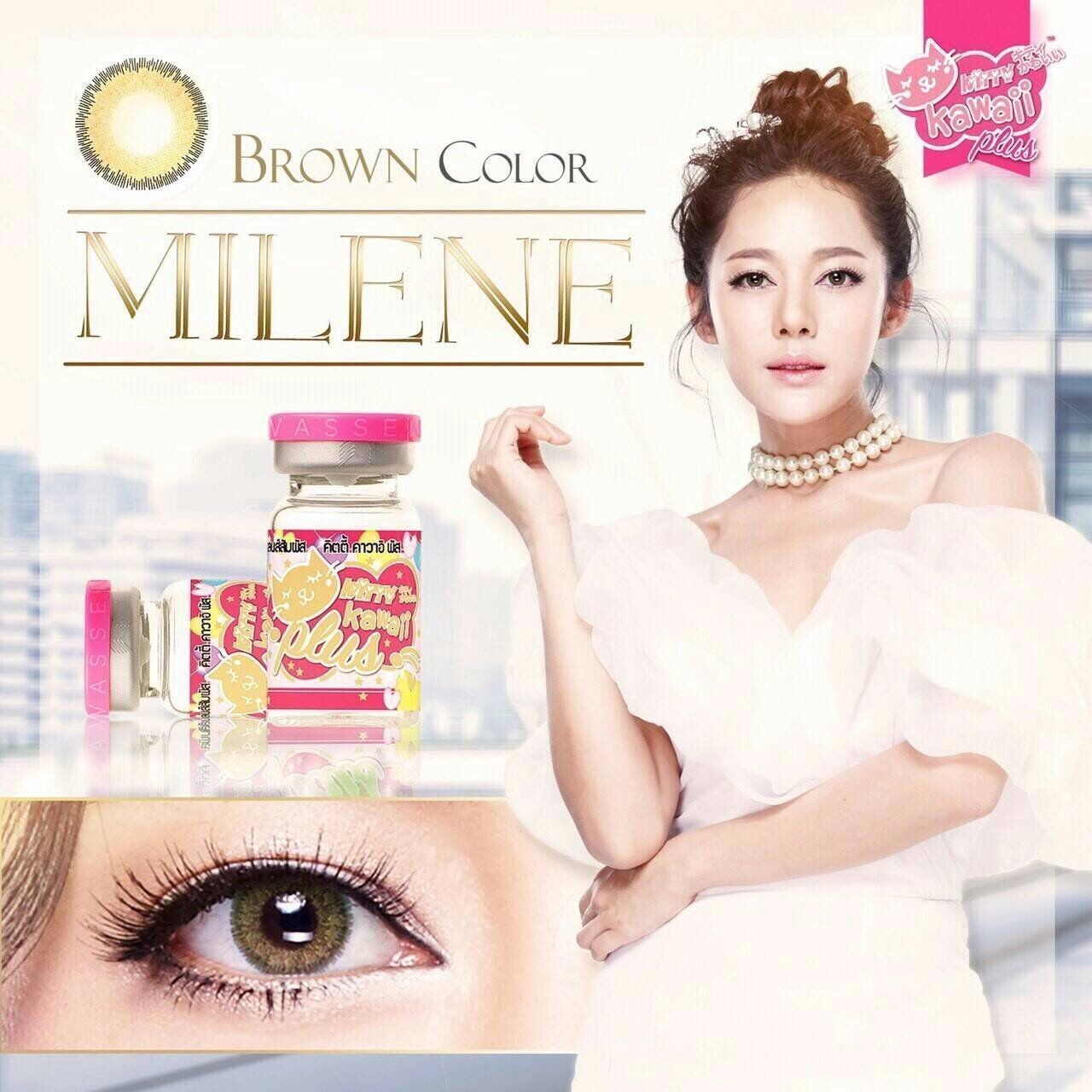 COLORED CONTACTS KITTY MINI MILENE BROWN - Lens Beauty Queen