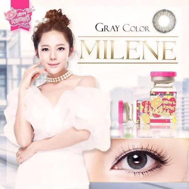 COLORED CONTACTS KITTY MINI MILENE GRAY - Lens Beauty Queen