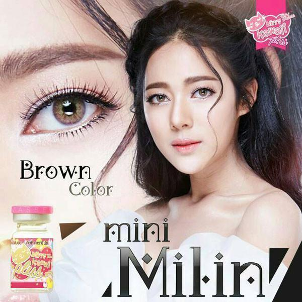 COLORED CONTACTS KITTY MINI MILIN BROWN - Lens Beauty Queen