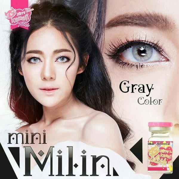 COLORED CONTACTS KITTY MINI MILIN GRAY - Lens Beauty Queen