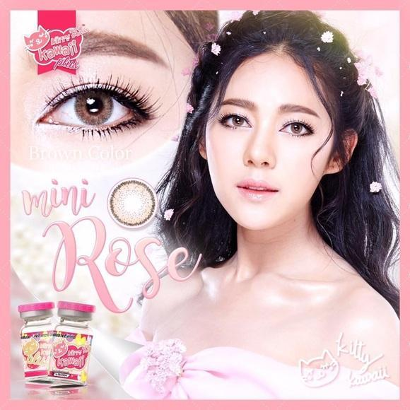 COLORED CONTACTS KITTY MINI ROSE BROWN - Lens Beauty Queen