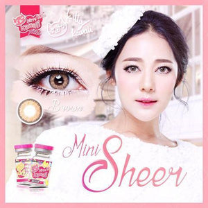 COLORED CONTACTS KITTY MINI SHEER BROWN - Lens Beauty Queen
