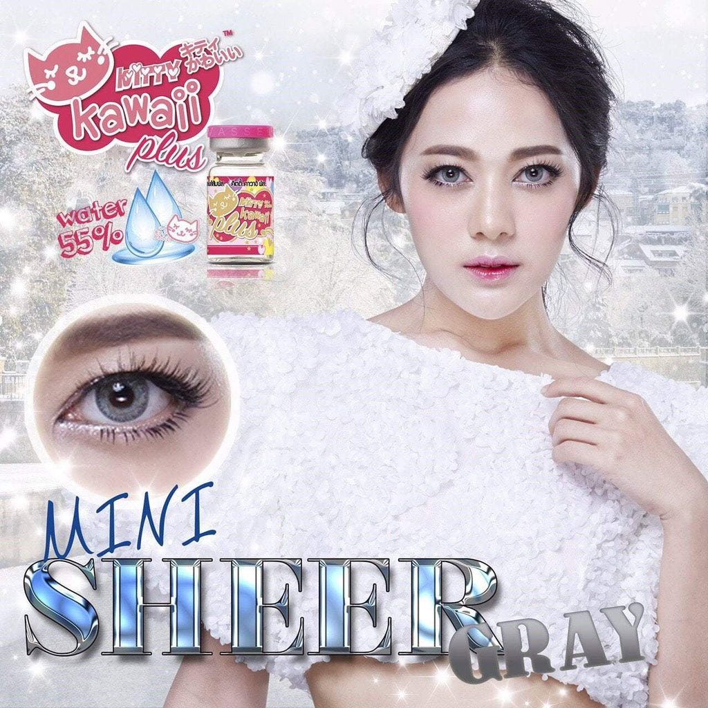 COLORED CONTACTS KITTY MINI SHEER GRAY - Lens Beauty Queen