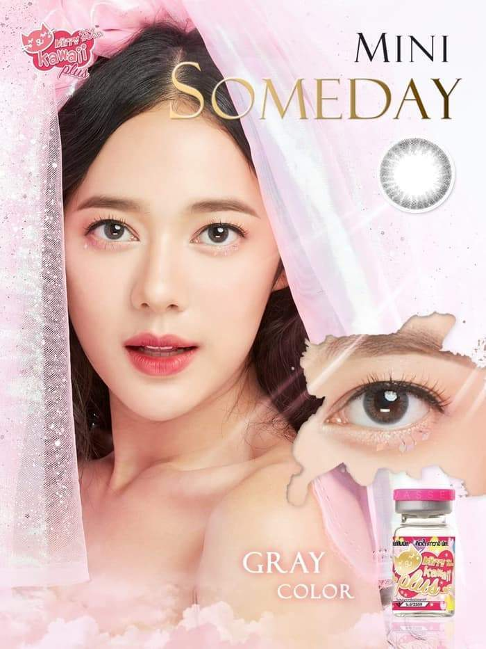 COLORED CONTACTS KITTY MINI SOMEDAY GRAY - Lens Beauty Queen