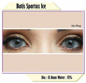 COLORED CONTACTS BATIS SPARTAX ICE NO RING - Lens Beauty Queen