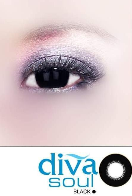 COLORED CONTACTS DIVA SOUL BLACK - Lens Beauty Queen